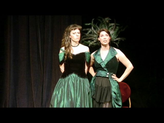 with Elizabeth Henry in Mark Alburger's Playboy of the Western World